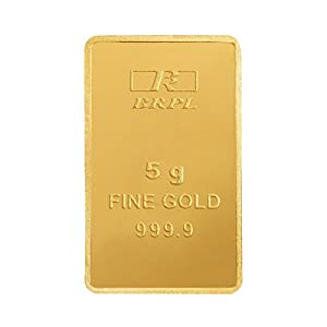 Bangalore Refinery 5 gm, 24k (999.9) Yellow Gold Bar