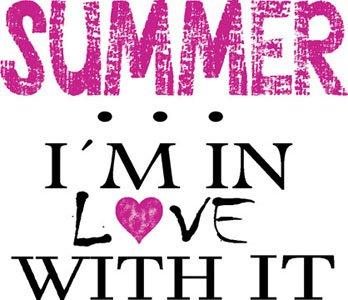 Mister Merchandise Ladies Damen Frauen T-Shirt Summer - I´m in love Tee Mädchen bedruckt Royal