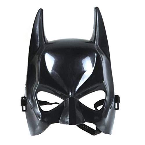 tobbrt Mann Halloween Batman Maske Schwarz Maskerade Party Karneval Dressing Oberhalb Gesichtsmaske Coole Gesicht Kostüm Kit