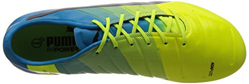 Puma Evopower 1 3 Fg, Chaussures de football homme Multicolore (Safety Yellow/Black/Atomic Blue)