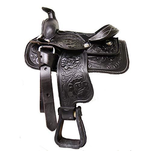 AMI Pferdesattel aus echtem Leder, für Kinder