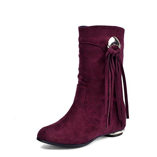 Boots , rot - claret - Größe: 39 (Plataform Stiefel)