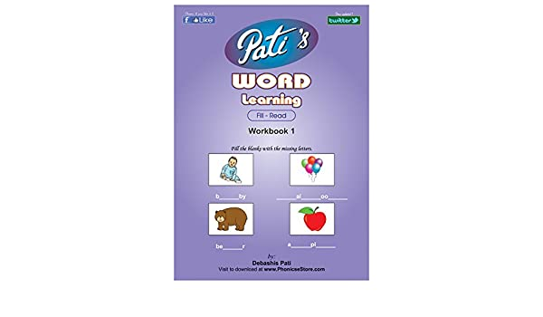 Pati's Word Learning 1 workbook - Pre School Spelling Bee help book