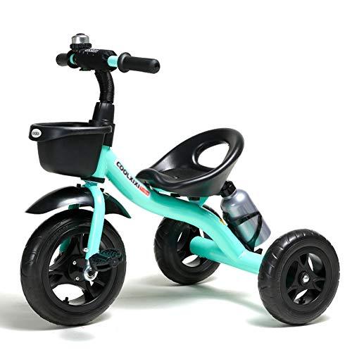 DBSCD Trikes for Toddlers, Bicicletta per Triciclo per Bambini 1-6 Anni Bambini Grandi Neonati Bambini Carrozzina a 3 Ruote (Colore: Blu)