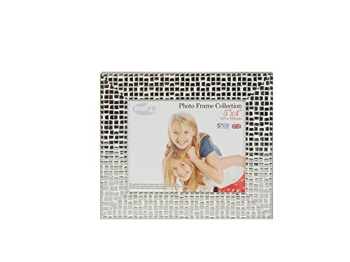 Inov8 5 x 4-Inch British Made Picture/Photo Frame, Mosaic Silver