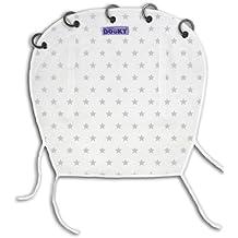 Original Dooky - Parasol para carrito y silla de coche, diseño de estrellas, color blanco y plateado