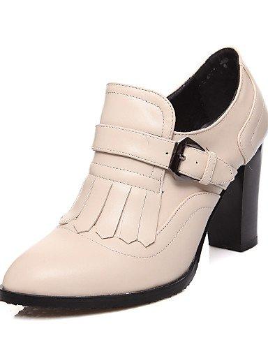 WSS 2016 Chaussures Femme-Extérieure / Bureau & Travail / Habillé-Noir / Amande-Gros Talon-Talons / Confort / Bout Arrondi-Talons-Polyuréthane black-us6.5-7 / eu37 / uk4.5-5 / cn37