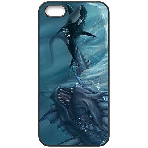 Antigua pez gigante iPhone 5/5S celular negro 602KAR101331