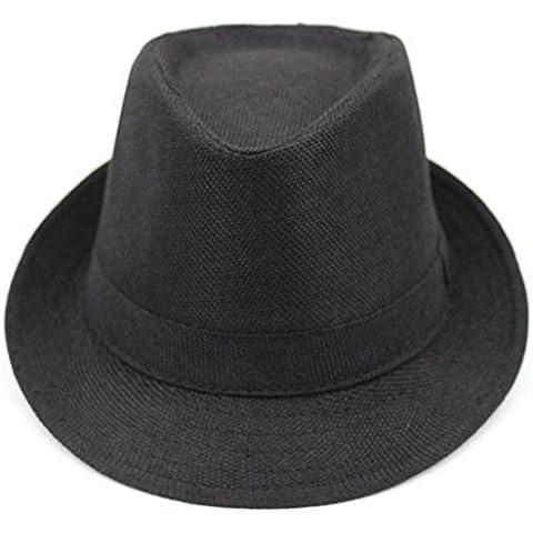 Gorros de hombres/ sombrero del verano corto de ala ancha/Gorras de visera/ sombrero de verano de lino transpirable/sombrero de caballero de mediana edad al aire libre