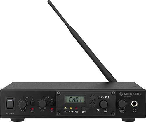 MONACOR TXA-800ST Professionelles 16-Kanal-Mono-PLL-Audio-Übertragungssystem, 863-865MHz, mit...