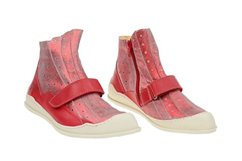 Eject Ciber Stiefelette in rot - Echtleder Damenstiefelette Rot