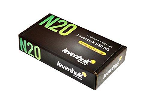 Levenhuk N20 NG Objektträger-Set mit vorbereiteten Proben Leere Objektträger