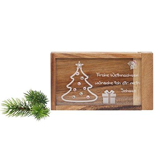 Geschenke 24: Magische Geldgeschenke Box mit Gravur - Weihnachtsmotiv - graviertes Geldgeschenk - Denkspiel, Knobelspiel, lustige Verpackung für Geld Weihnachtsgeschenk