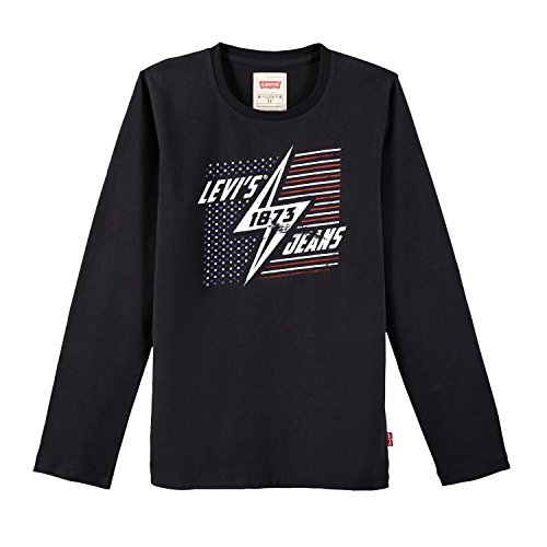Levi's ls tee trio, t-shirt bambino, nero (black 02), 8 anni (taglia produttore: 8a)