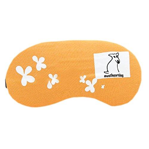 Schlafmaske Schlafenaugen-Abdeckung Super-Smooth Augenmaske für Reise, Orange