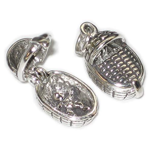 Baby, Sterling-Silber 925, 1 Öffnung Babys SSLP2067 Körbe