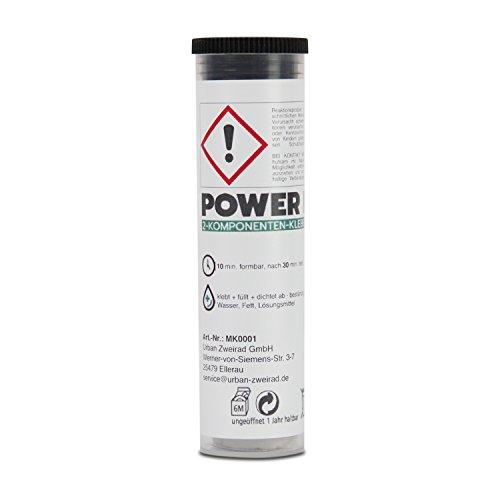 POWER REPAIR 2-Komponenten-Kleber Epoxidharz - Extra starke Knetmasse zum Fixieren, Ausbessern und Abdichten - für Beton, Stahl, Holz und viele weitere Materialien 64 g