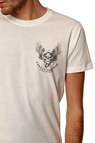 Yakuza Premium Herren Shirt Motiv T-Shirt Rebels On The Rise Weiß