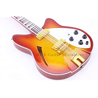 RGM98 George Harrison 12 string Miniature Guitar Including leather guitar strap