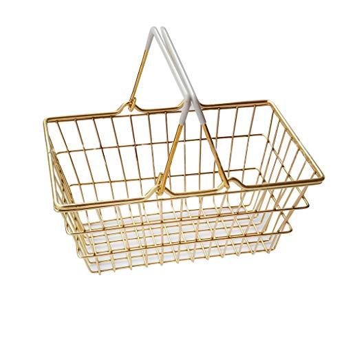 Hanxin Eisen-Draht-Speicher-Korb Haushalt Desktop-Metall-Speicherkorb, Haushalt Organizer-Halter-Ausgang Badezimmer Küche Sundries Container -