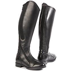 41f2796f43 Toggi Cartwright largo botas de equitación con cremallera lateral curvada y  paneles elásticos laterales en negro