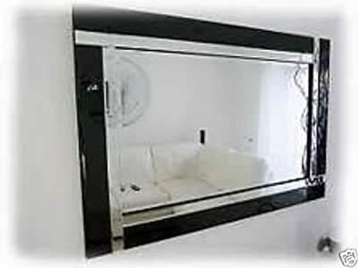 Large Modern Art Deco Rectangular Bevelled Glass Wall Mirrors