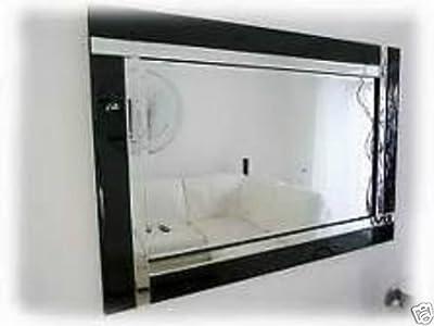 Large Modern Art Deco Rectangular Bevelled Glass Wall Mirrors