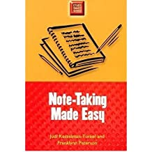 By Judi Kesselman-Turkel ; Franklyn Peterson ; Franklynn Peterson ( Author ) [ Note-Taking Made Easy Study Smart Series By Sep-2003 Paperback