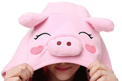 Imagen de animal pijamas traje disfraz de halloween cerdo rosa unisexo adulto onesie alternativa