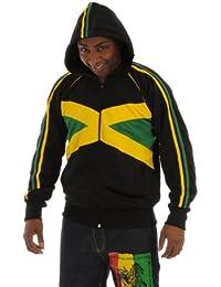 rasta4real JAMAICA Bandera CHAQUETA CAPUCHA
