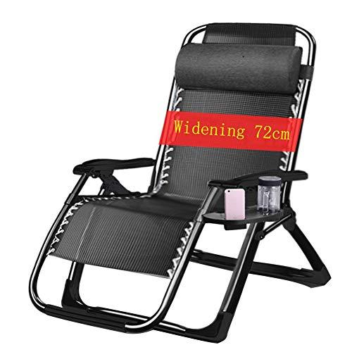 XXINZWU Klappbarer Schwerelosigkeitsstuhl Lehnstuhl for die Mittagspause Startseite Lazy Beach Patio Atmungsaktiver, reißfester Teslin-Rücken mit Einer Tragfähigkeit von 200 kg