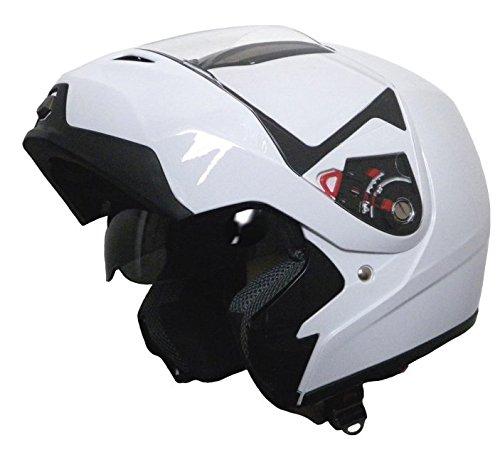 Klapphelm Integralhelm Helm Motorradhelm Rollerhelm RALLOX 339 weiß mit Sonnenblende (S, M, L, XL, XXL) Größe S