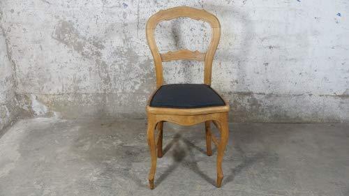 Möbelladen Dahms Antiker Stuhl Barock Rokoko Stil Ballonstuhl Chippendale Polster schwarz