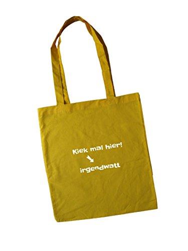 Jutebeutel bedruckt mit Spruch / Jute Beutel mit Design kiek mal / Stoffbeutel / Einkaufbeutel /...