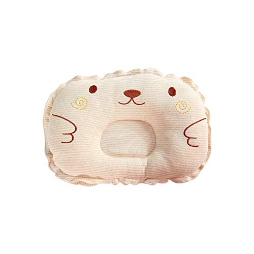 Baby Head Formendes Kissen Baby Kissen zur Vermeidung von flachen Kopf, stützt Neugeborene Kopfform Baby Schutzkissen (hellkaffeebraun) -