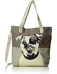 Adelheid - Frohnatur Einkaufstasche, Bolso Mujer, Gris (Schattengrau), 10x39x44 cm (B x H T)