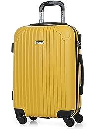 a67de51be ITACA - Maletas de Viaje Rígidas 4 Ruedas Trolley ABS. Neceser. Resistentes  y Ligeras. Mango Asas y Candado. Pequeña Cabina Low Cost…