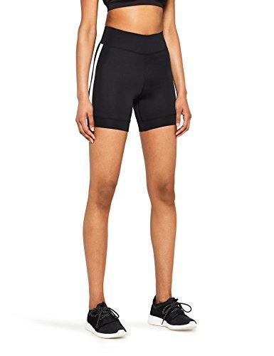 AURIQUE Short Ciclista Mujer, Negro (Black), 42 (Talla del Fabricante: Large)
