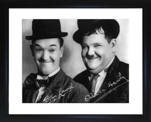 Laurel und Hardy gerahmtes Foto -