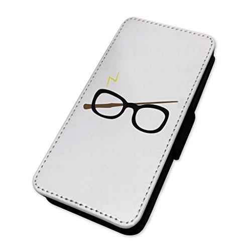 Wizard occhiali & bacchetta–Custodia del telefono in caso di carta Apple Iphone X