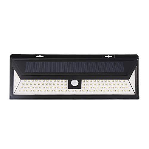 Etanche 118 LED Lampe Murale Solaire PIR Détecteur de Mouvement Lampe Murale Escalier pour Balcon Jardin