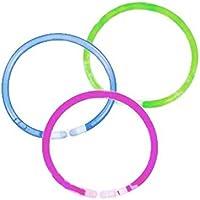 12 Piece Set Glow Bracelets with Connectors