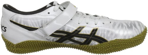 Asics Unisex-Erwachsene Cyber High Jump London Geschlossen Bianco (White/Black/Gold)
