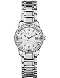 Bulova Highbridge Diamond 96W105 - Montre-bracelet de créateur - pour femme - acier inoxydable