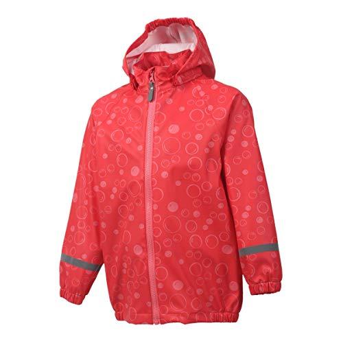 Color Kids Premium Regenjacke - Wasserdicht und Winddicht Dank verschweißter Nähte - Viele Farben für Mädchen und Jungen in den Größen 80 bis 140 - ÖKO Testsieger 2017 - Coral Red-128