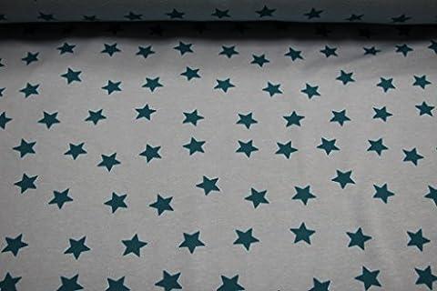 Tissu/au// pour enfants à partir de 25 cm, excellente qualité alpenfleece alpenfleece (sweat polaire à motif étoilé/bleu