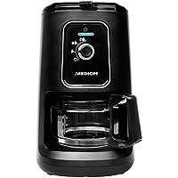 MEDION MD 17384 Kaffeemaschine mit Mahlwerk, 900 Watt, 600 ml Tankvolumen, 2in1-Funktion, 2 Mahlstufen, Permanentfilter, schwarz