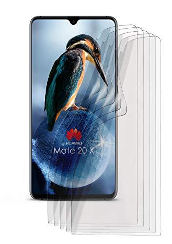 5X Huawei Mate 20 X | Schutzfolie Matt Display Schutz [Anti-Reflex] Screen Protector Fingerprint Handy-Folie Matte Displayschutz-Folie für Huawei Mate 20 X Displayfolie
