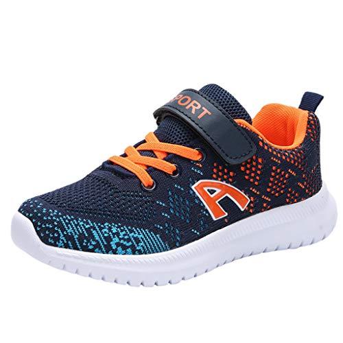 UOMOGO Scarpe Sportive Bambini e Ragazzi Scarpe da Corsa Ginnastica Respirabile Mesh Running Sneakers Fitness Casu