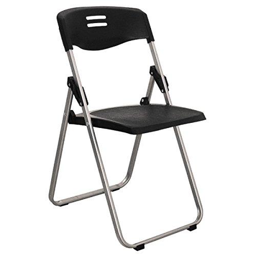 GEXING Klappstuhl / Home Klappstuhl / Computer Freizeit Stuhl / Einfache Bürostuhl / Plastikstühle,Black-41.5*49*104/79cm